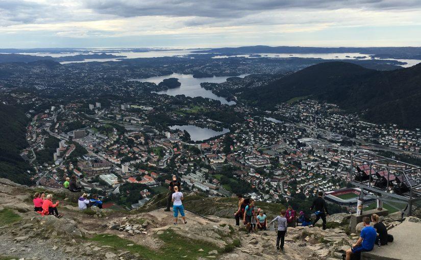 Le Mont Ulriken de Bergen, Norvège