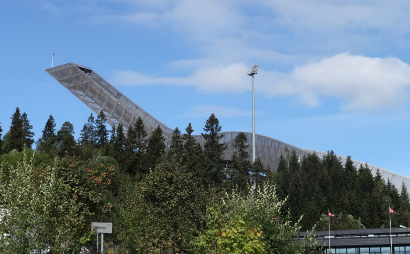 Le site olympique d'Holmenkollen à Oslo, Norvège